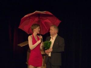 Klaus-Peter Pfeiffer auf der Bühne mit Eva Kristina Korte